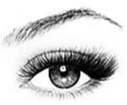 Cat eye eyelash extension style